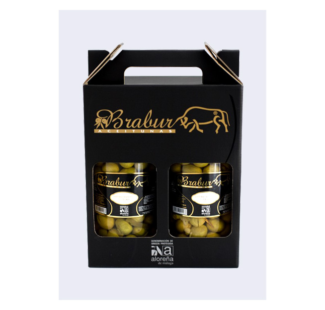 Aceituna Manzanilla Aloreña Aliñada Gourmet - Brabur (500 gr.)-0