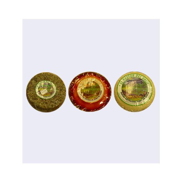 Pack de tres Quesos de Cabra Semicurados (Alhaurín El Grande)