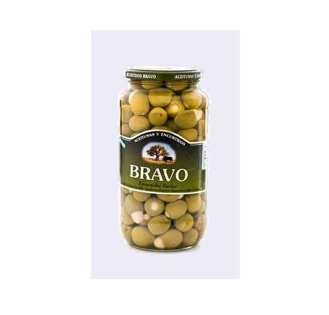 Aceitunas rellenas de almendra Bravo 500 gr.