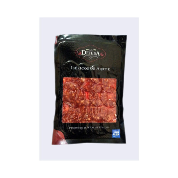 Chorizo ibérico puro de bellota en lonchas - Dehesa de los Monteros (100 gr.)-0