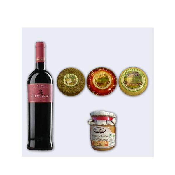 Lote #11 Vino Zumbral, quesos de cabra y mermelada-0