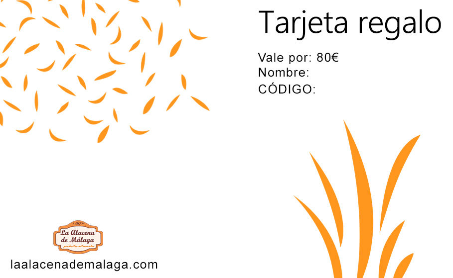 Tarjeta de Regalo 80 € - La Alacena de Málaga