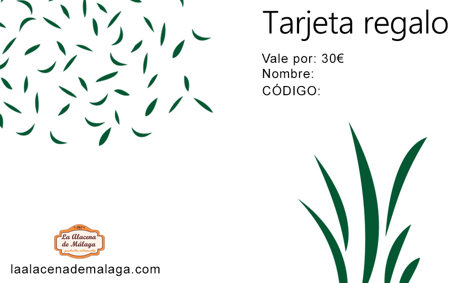 Tarjeta de Regalo 30 € - La Alacena de Málaga